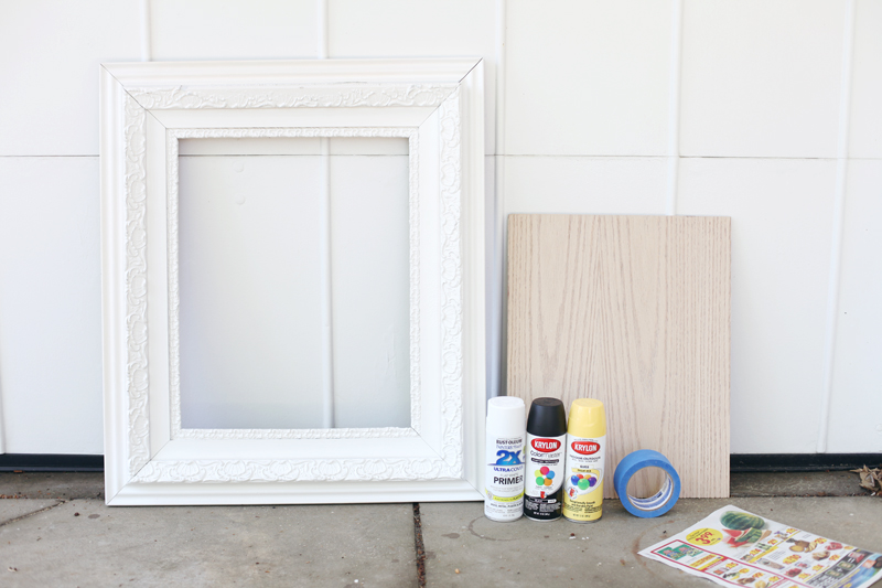 Try This: DIY Modern Art for a Vintage Frame - A Beautiful Mess