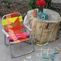 Aluminum Chair Makeover - June 02, 2014
