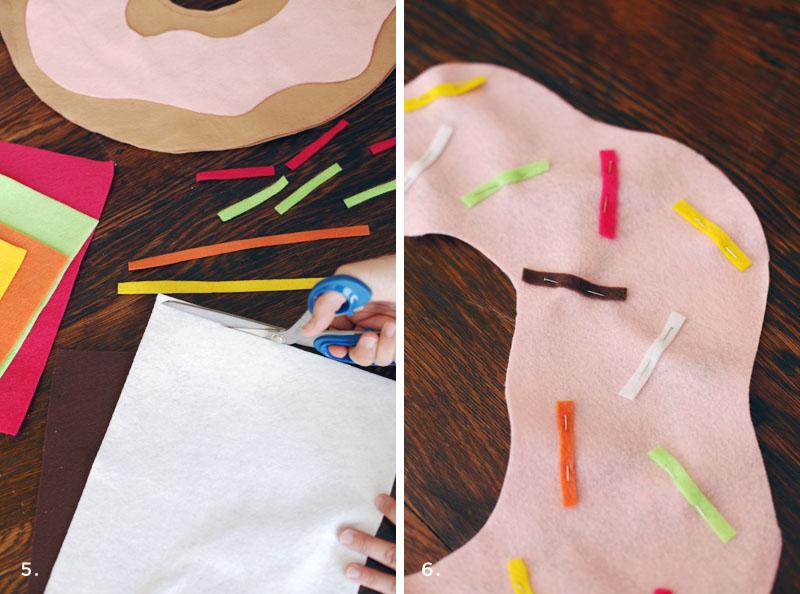 Simple doughnut pillow tutorial- for both kiddos AND grown-up kiddos!