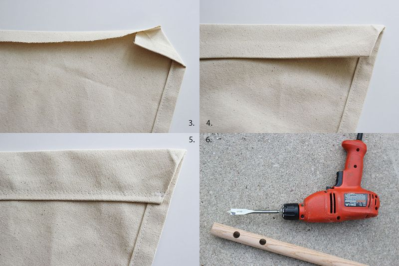 Step Three: Flip Your Canvas 90 Degrees To The Left So That The Longest  Edge Is On The Right. Youu0027re Going To Create Pockets For The Rope To Slide  Through ...