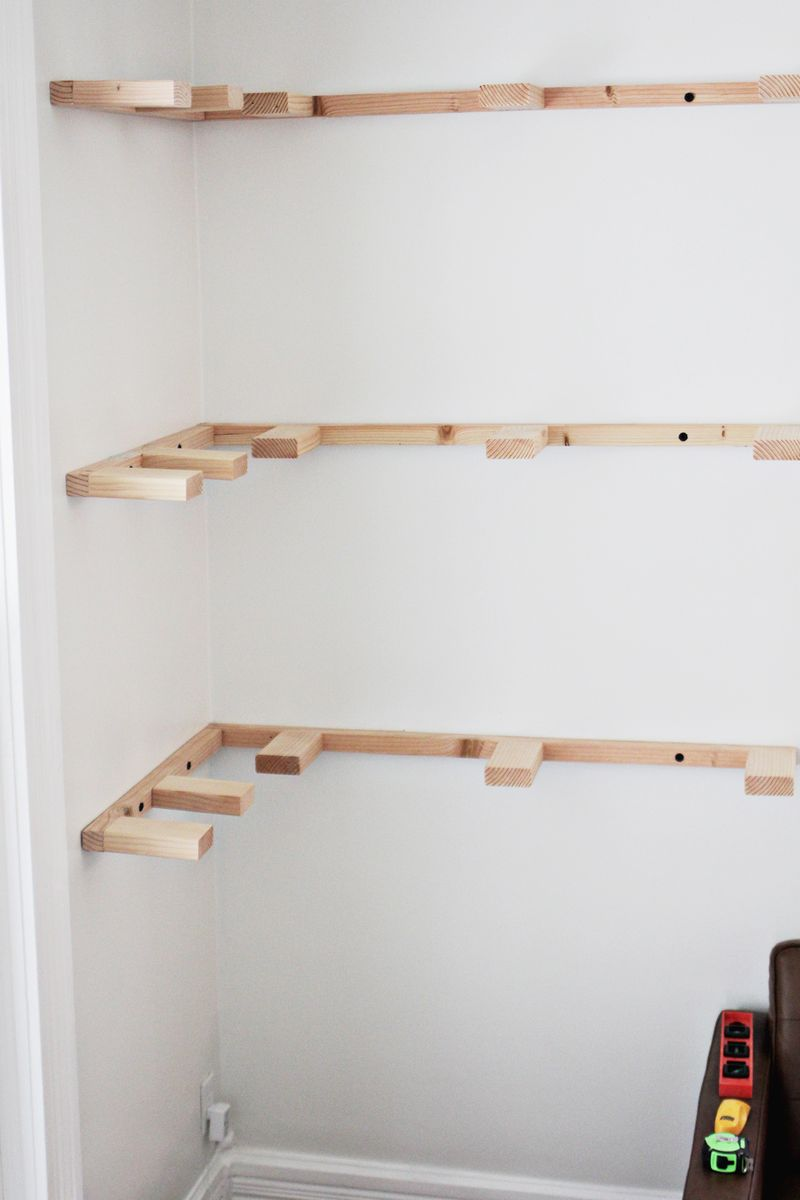 DIY Floating Corner Shelves – A Beautiful Mess