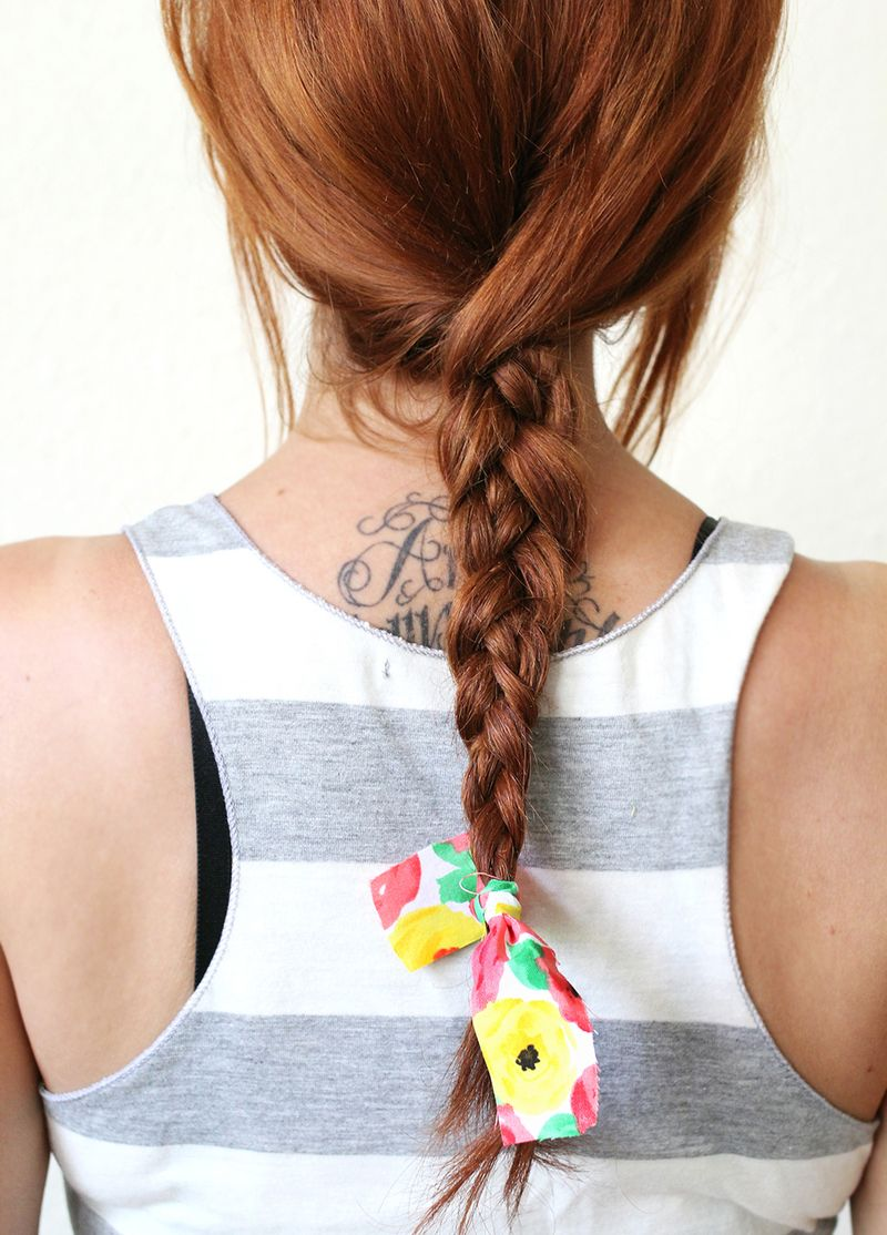 Textured Summer Braid via A Beautiful Mess