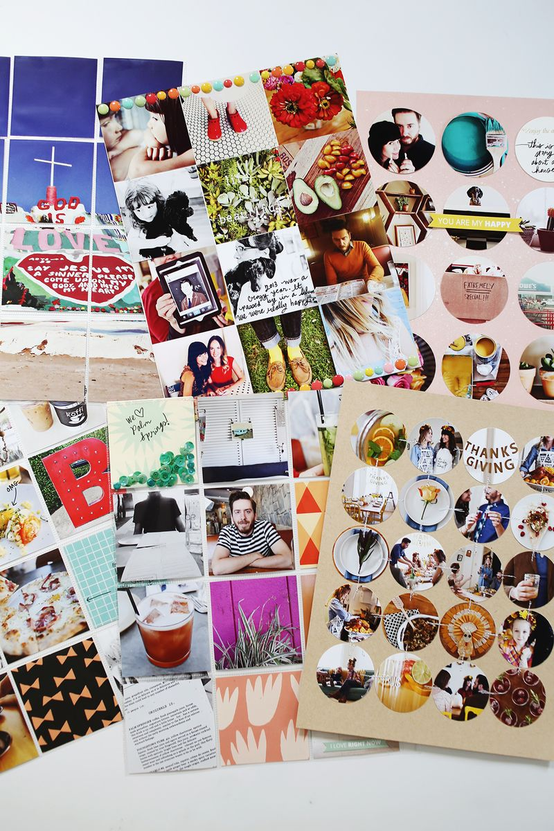 Photo-filled scrapbook pages