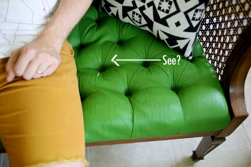 fabric paint for furnitureAdventures in Painting Upholstery  A Beautiful Mess