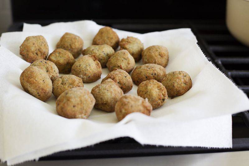 Fried eggplant and chickpeas