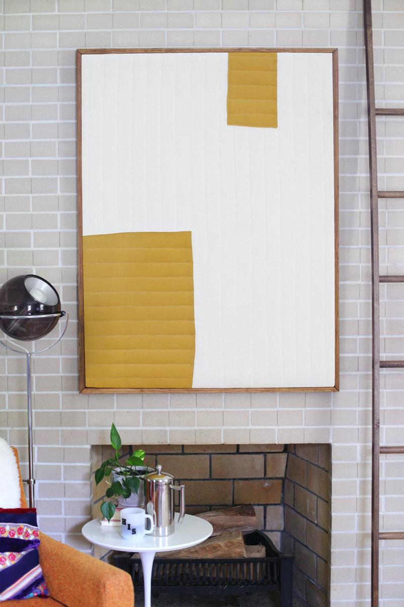 DIY Quilted Modern Art - A Beautiful Mess