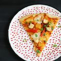Pineapple Fried Rice Pizza