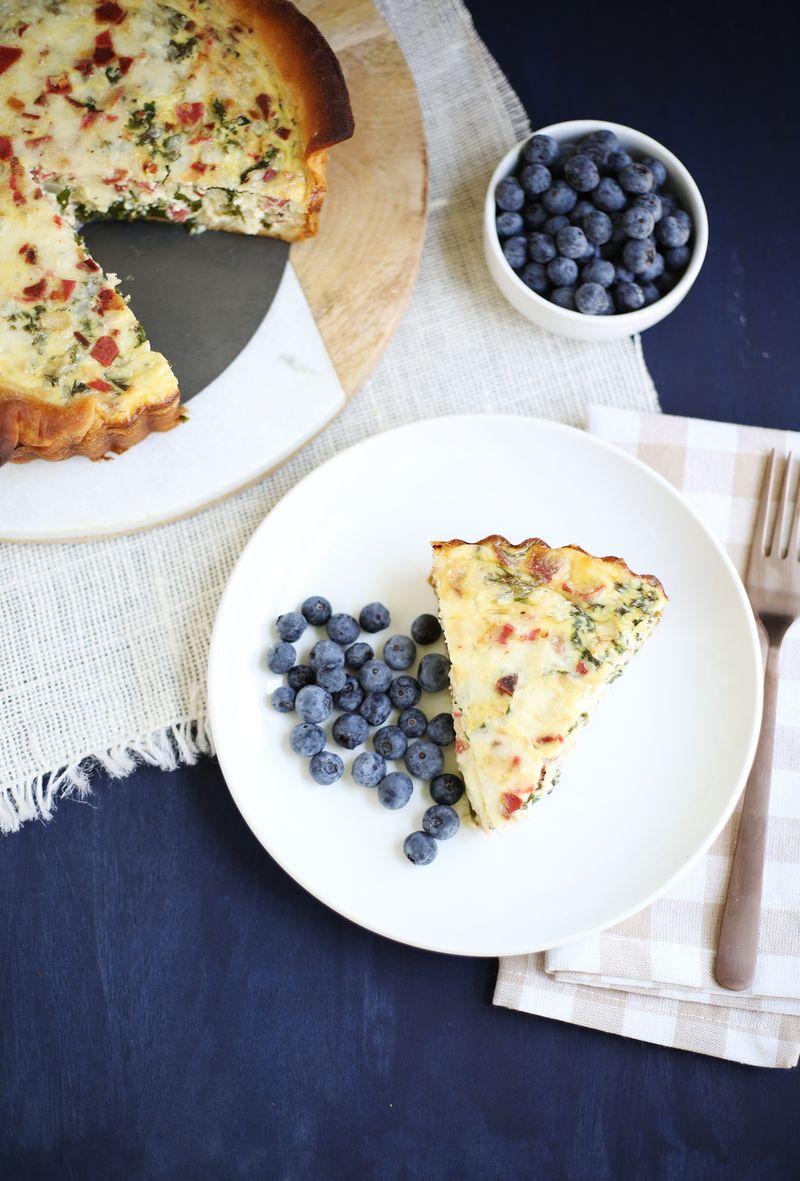 Kale and bacon quiche (click through for recipe)