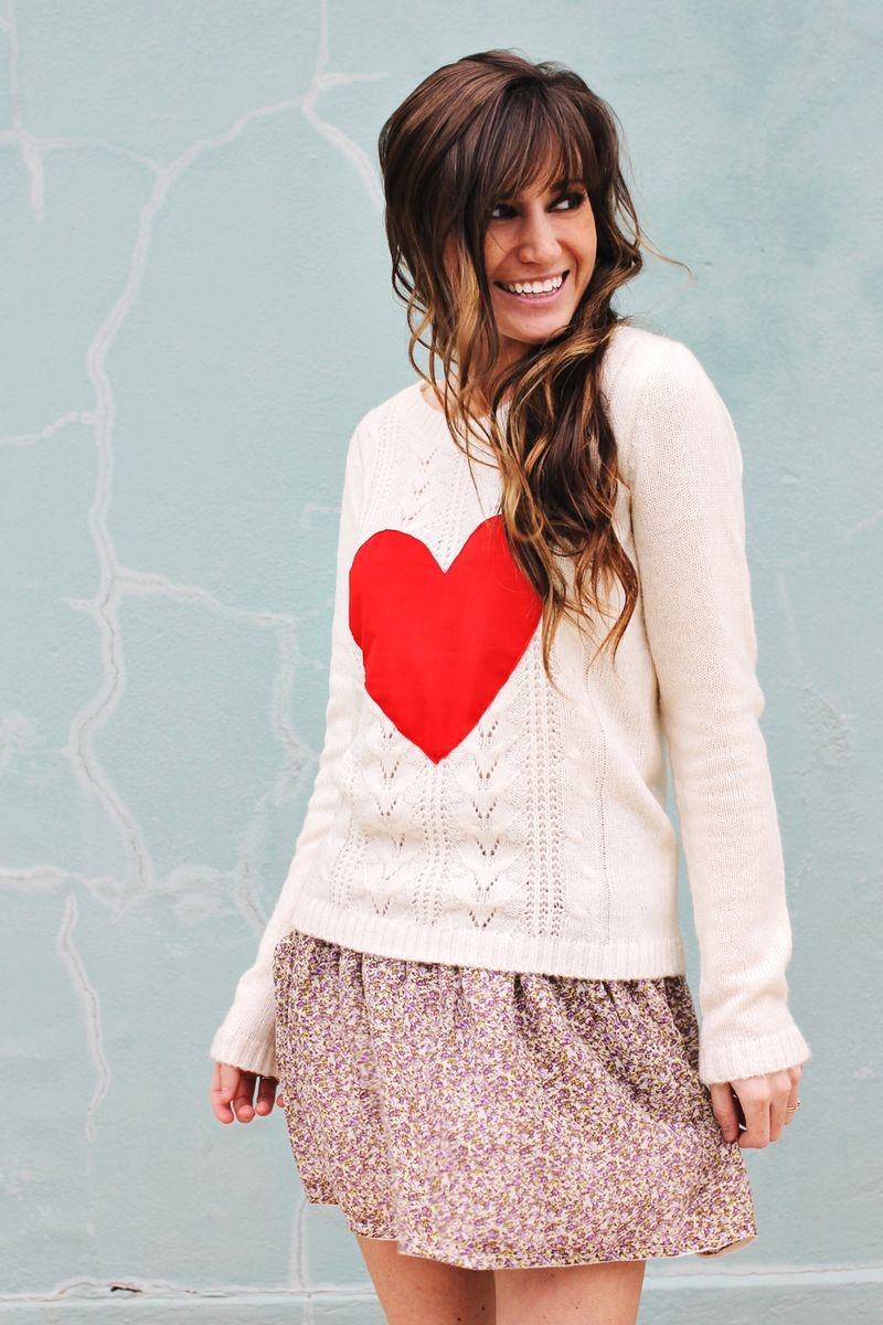Make your own heart sweater