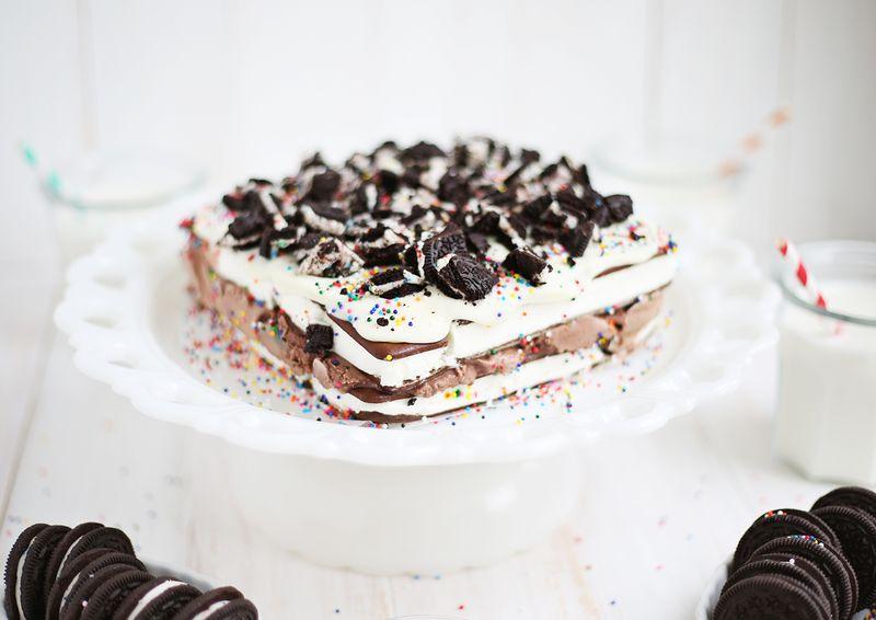 Easiest ever ice cream cake