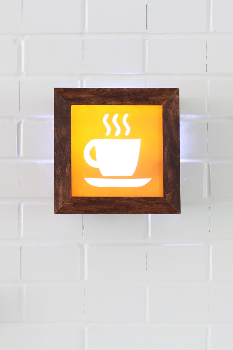 Make this fun light-up café sign for less than $25!