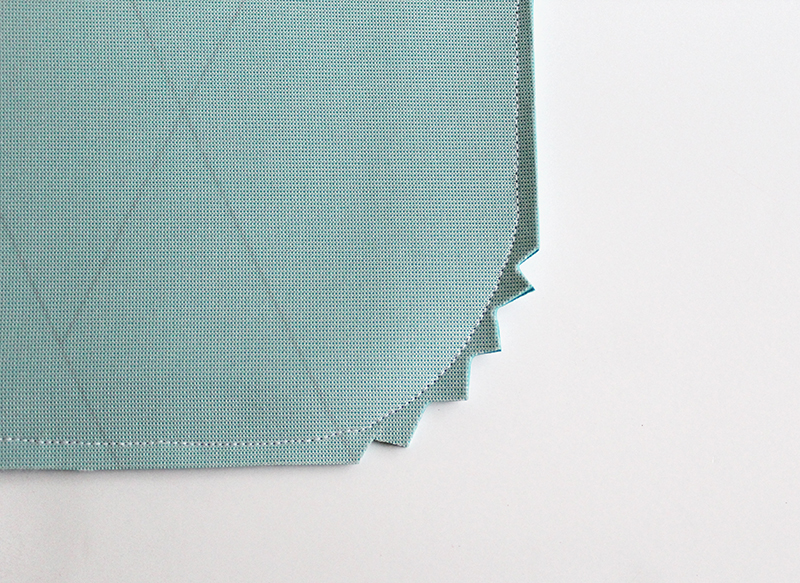 Step 3- clip the edges