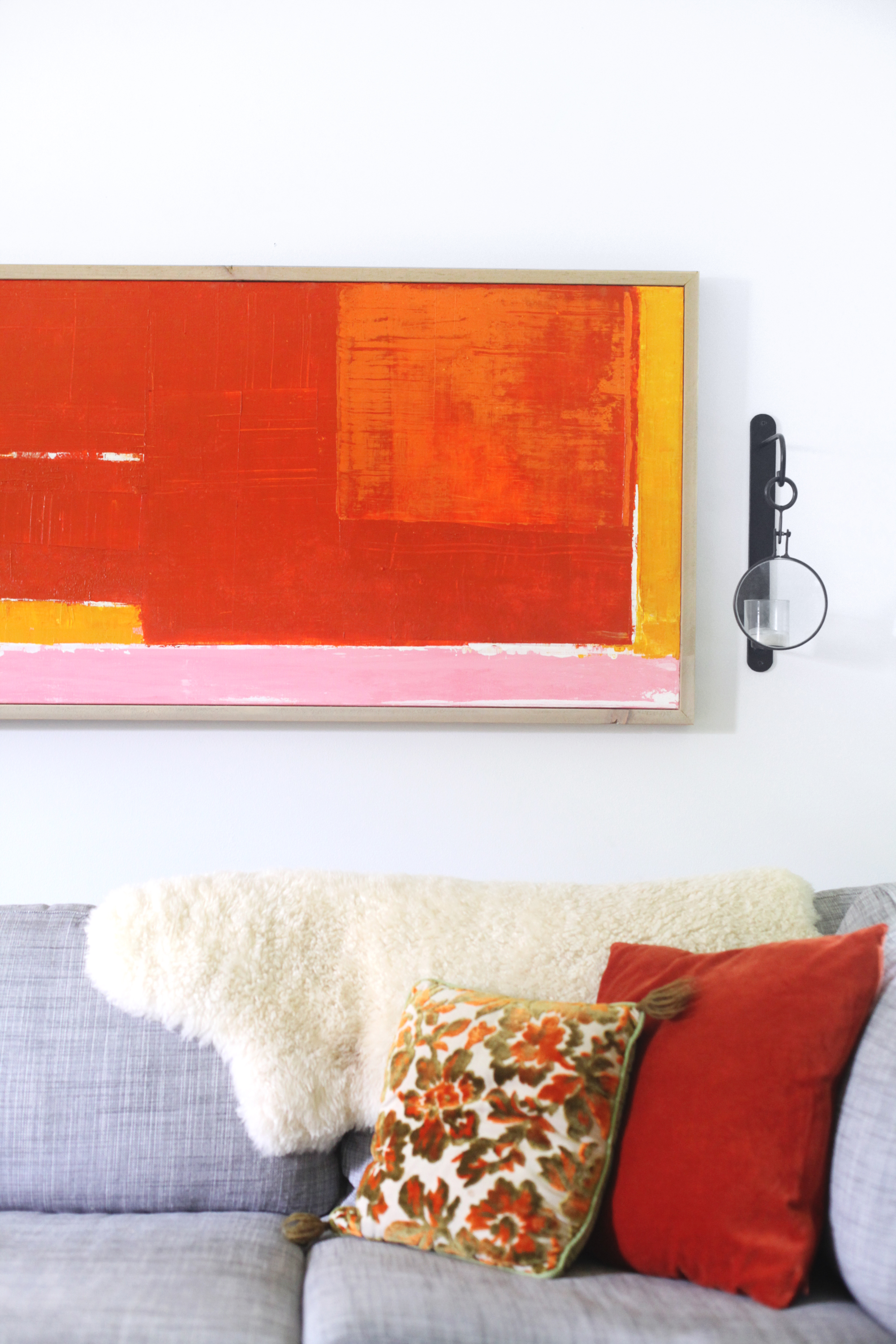 DIY abstract art— complete with step by step photos