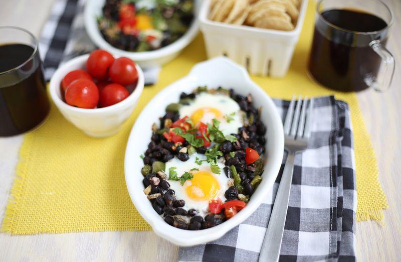 Southwestern baked eggs