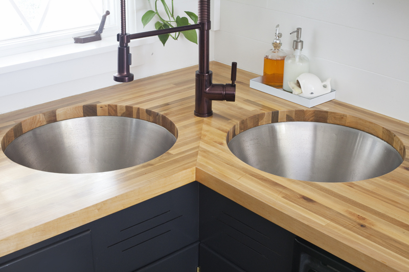 Let's talk about the controversial aspect of butcher block + how to install your own with an undermount sink.