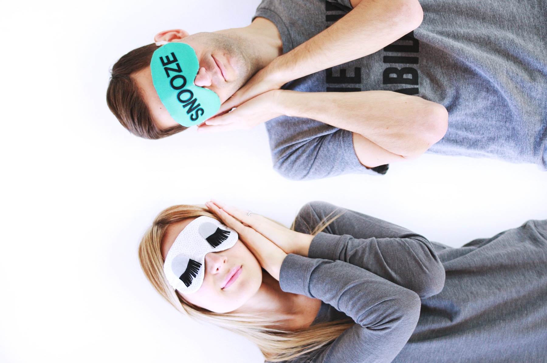 Make Your Own Eye Mask abeautifulmess.com