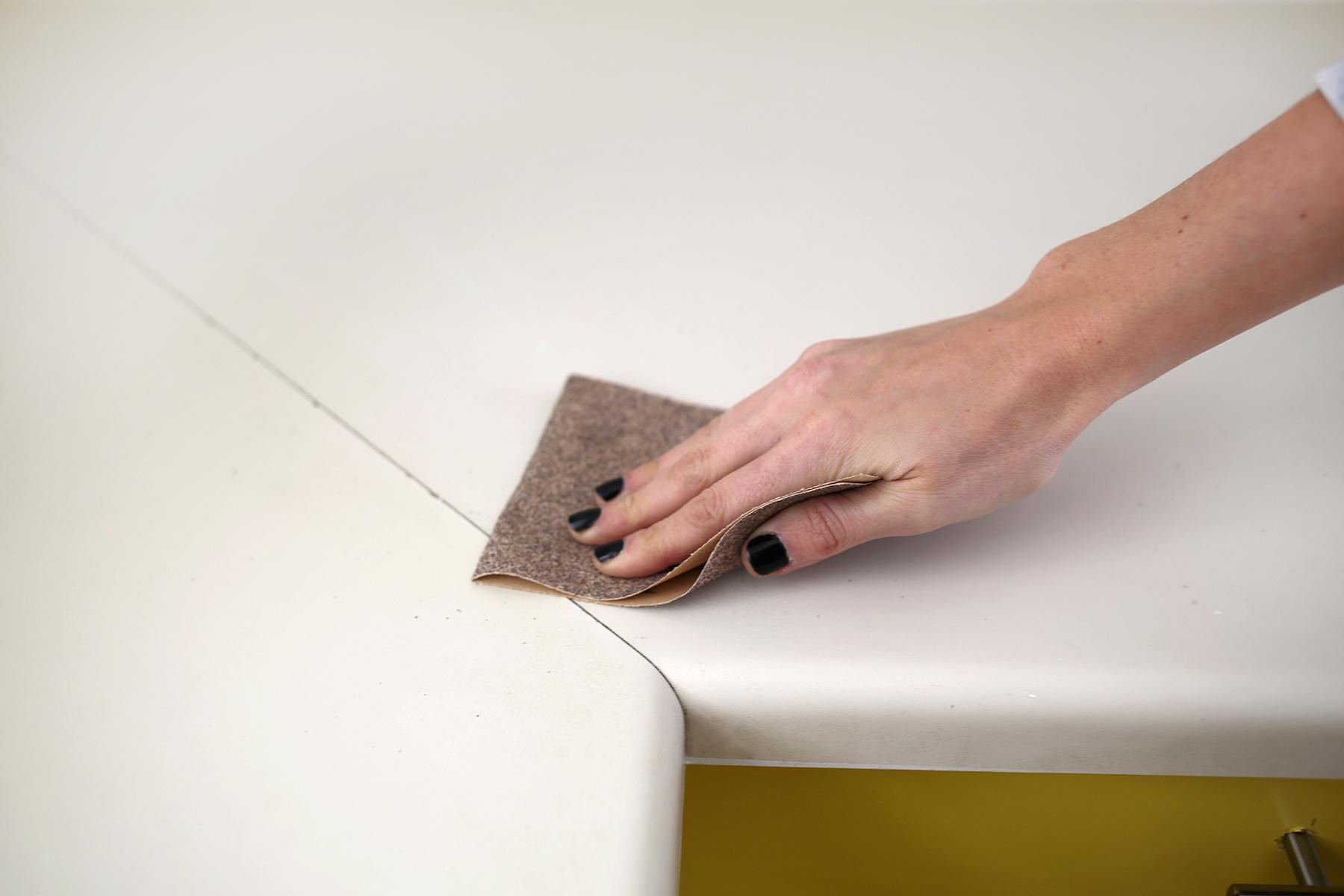 Concrete Countertop DIY abeautifulmess.com