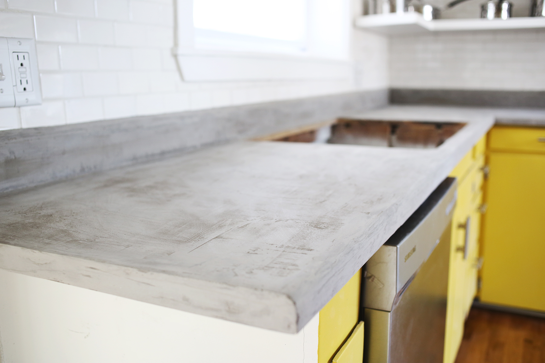 diy cement countertops concrete countertop diy a beautiful mess 957