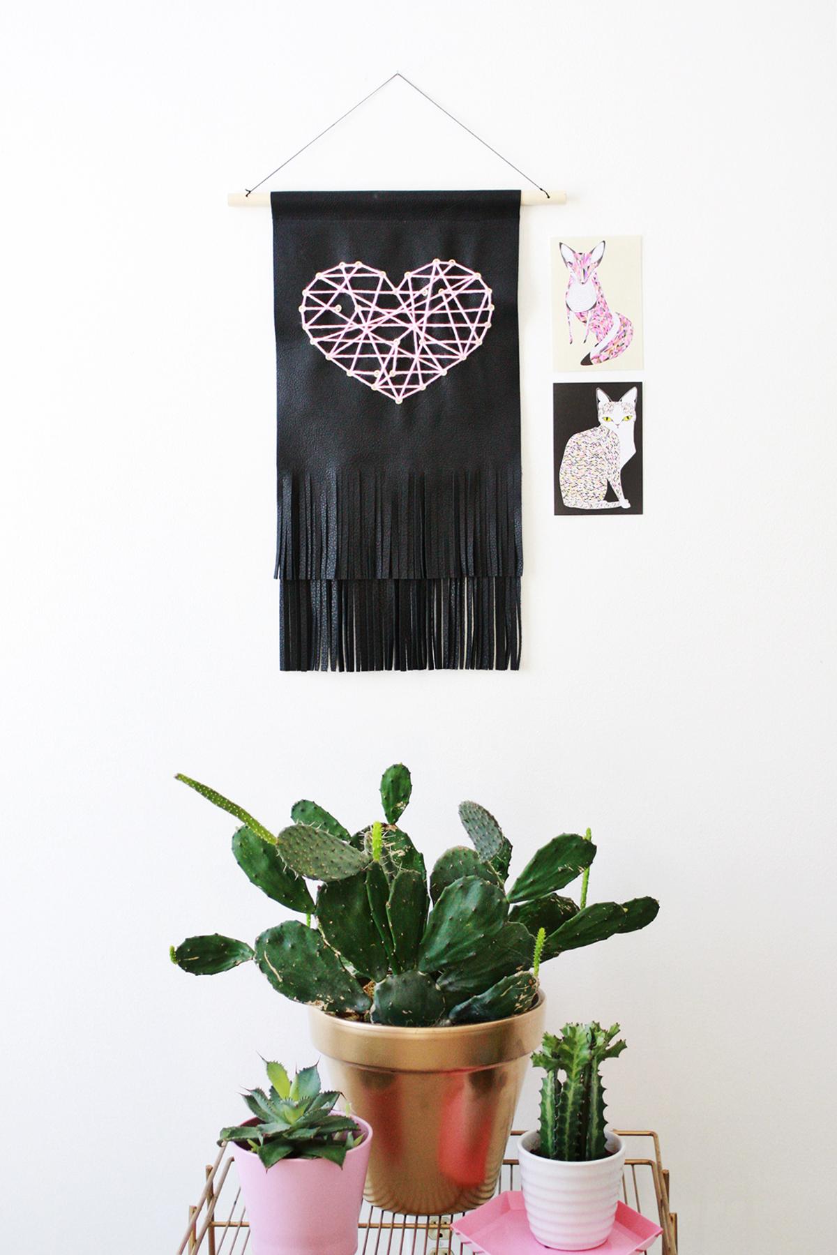 Leather Fringe Heart Tapestry abeautifulmess.com