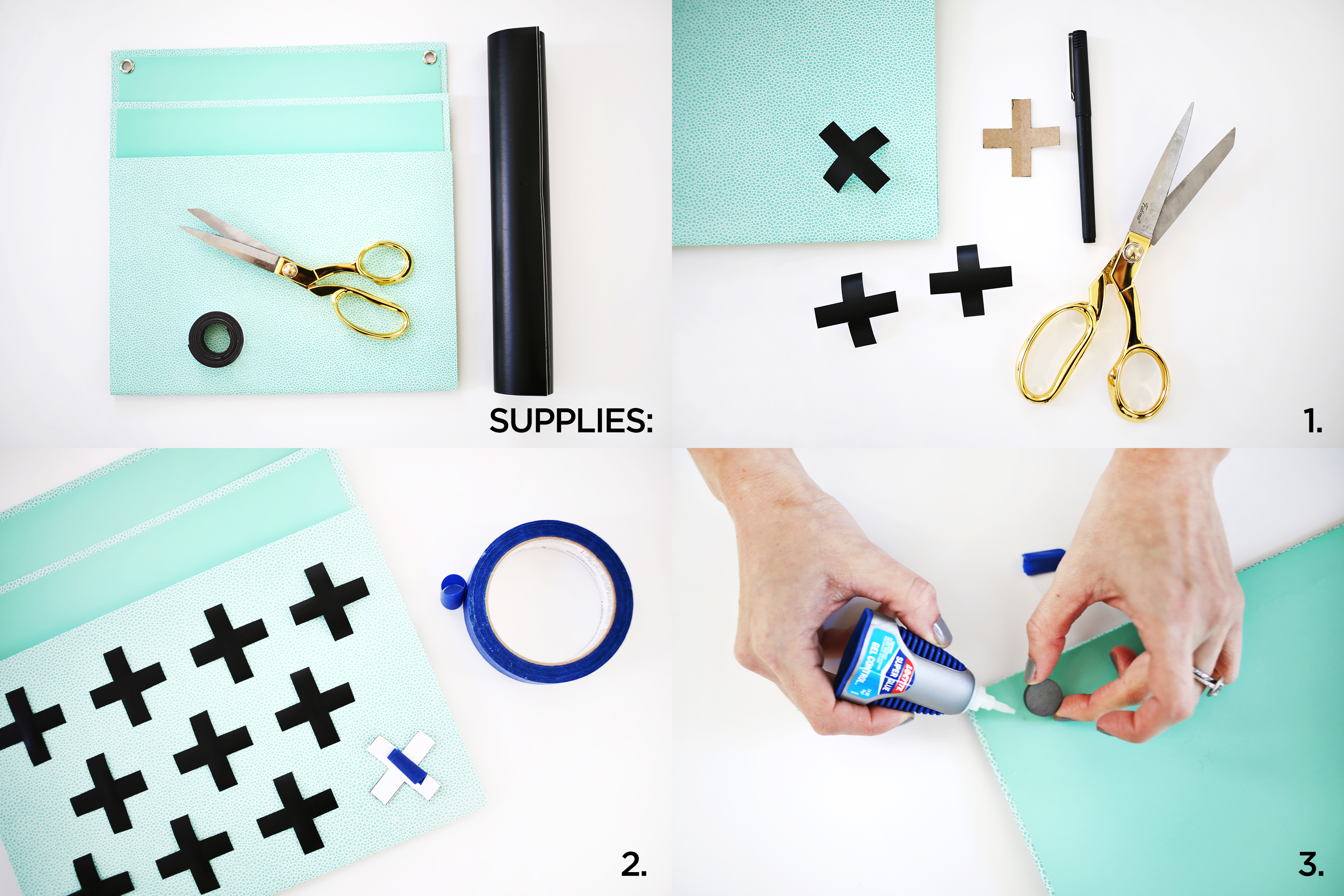 Magnetized Mail Holder DIY abeautifulmess.com