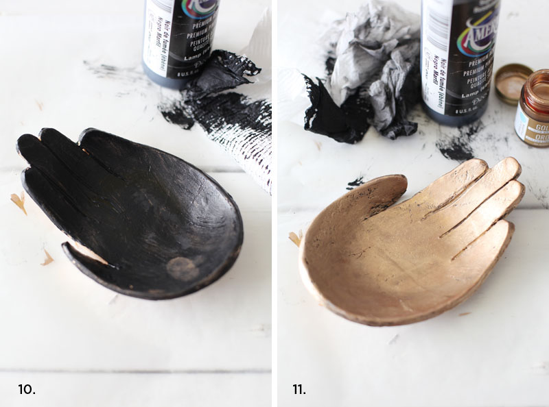 Make this fabulous hand dish inspired by Kelly Wearstler- click through for details.