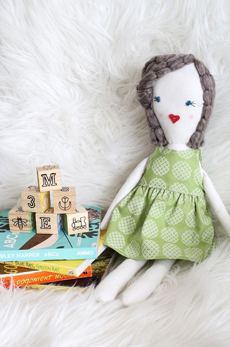 DIY Rag Doll (with free printable pattern)