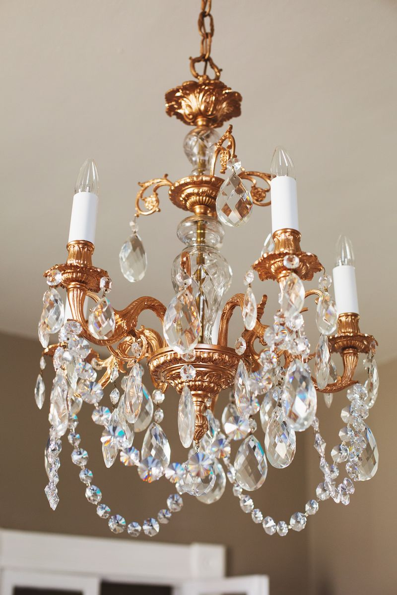 Our Restyled Copper Chandelier abeautifulmess.com