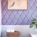 Create a Wallpaper Look with a Geometric Stencil - March 24, 2014