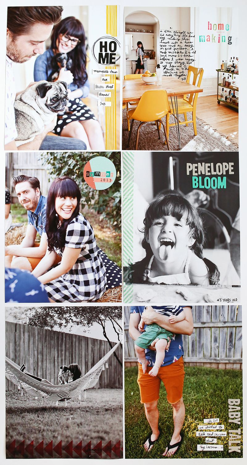 Full Page Photo Scrapbook Pages Ideas