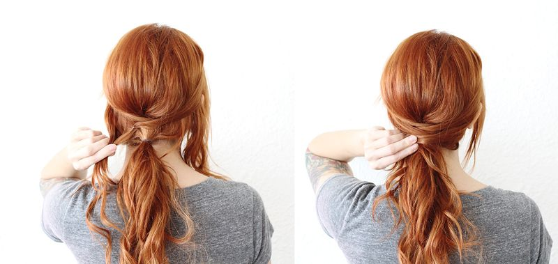 Criss Cross Ponytail (step 5-6)