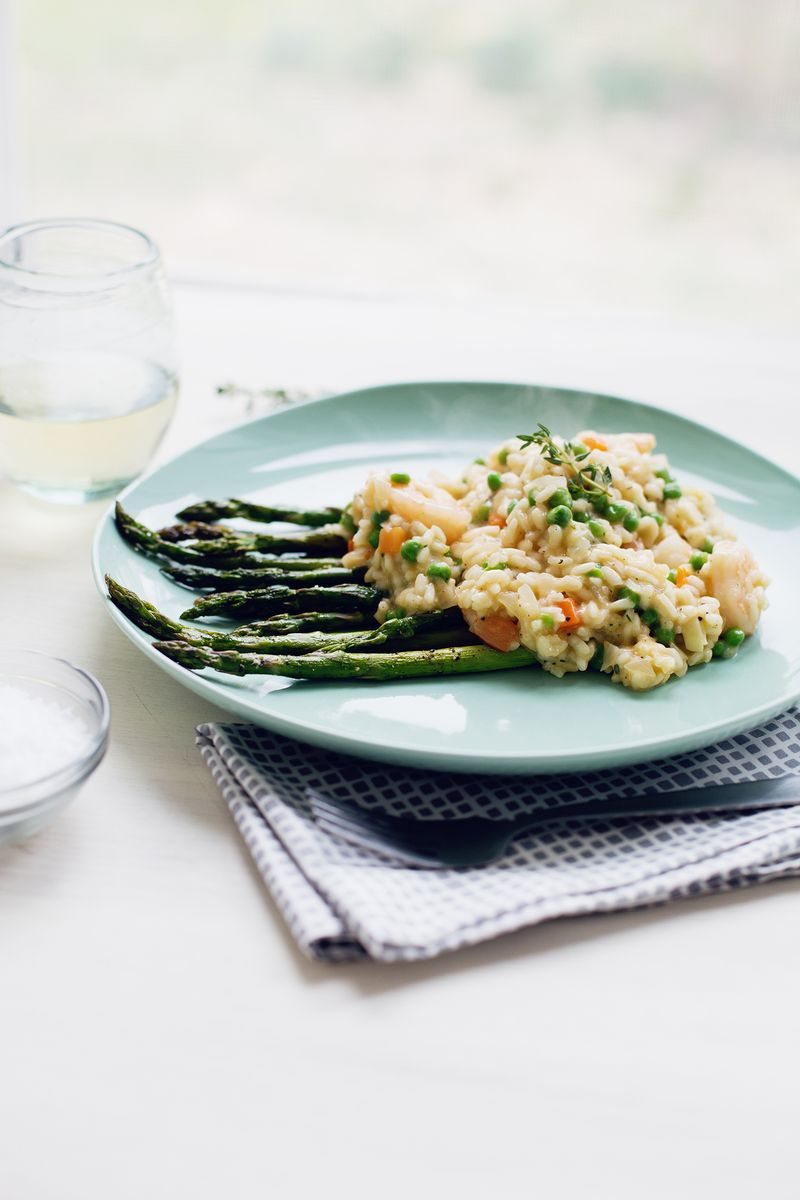 Risotto primavera (click through for recipe)