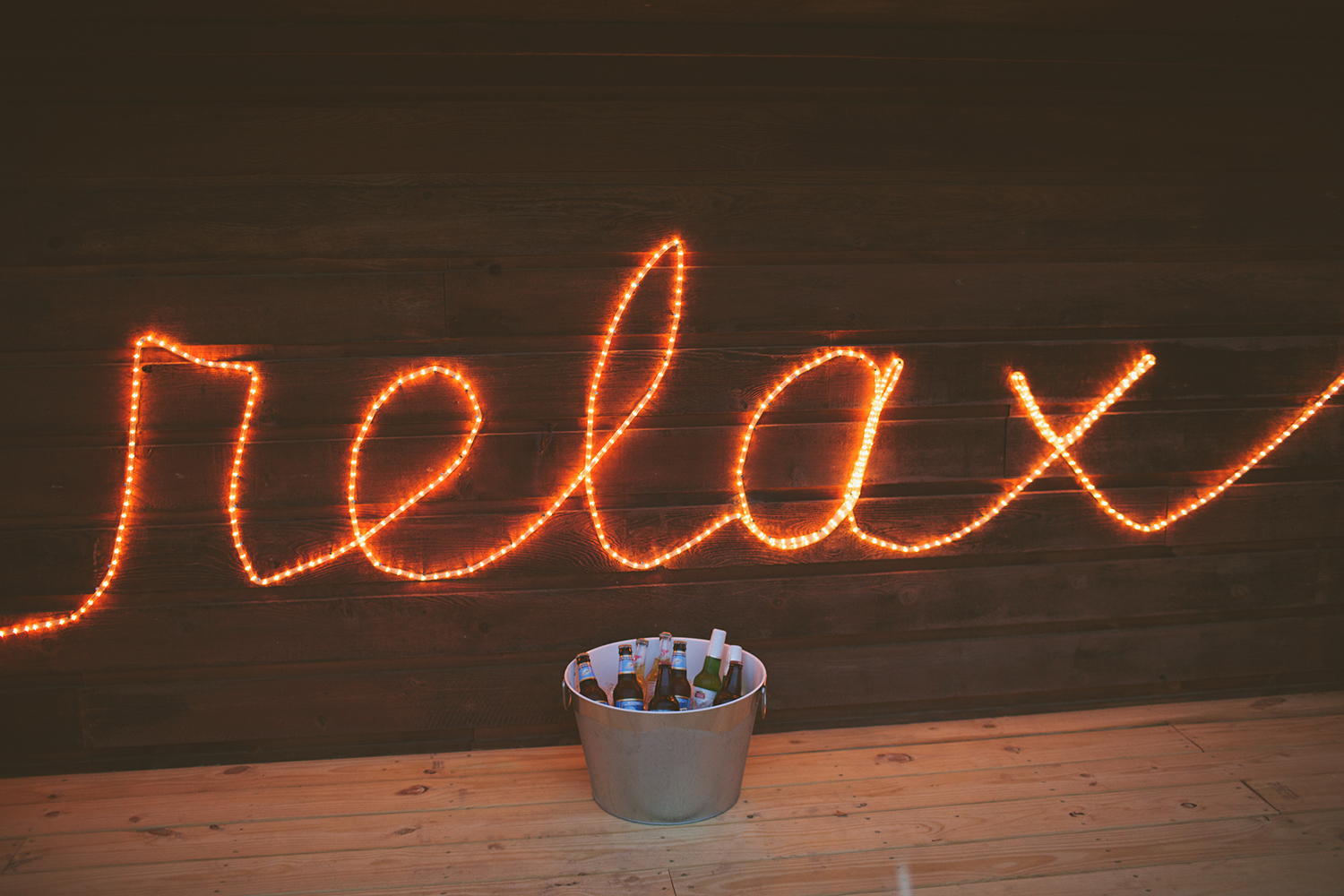 Relax rope light sign