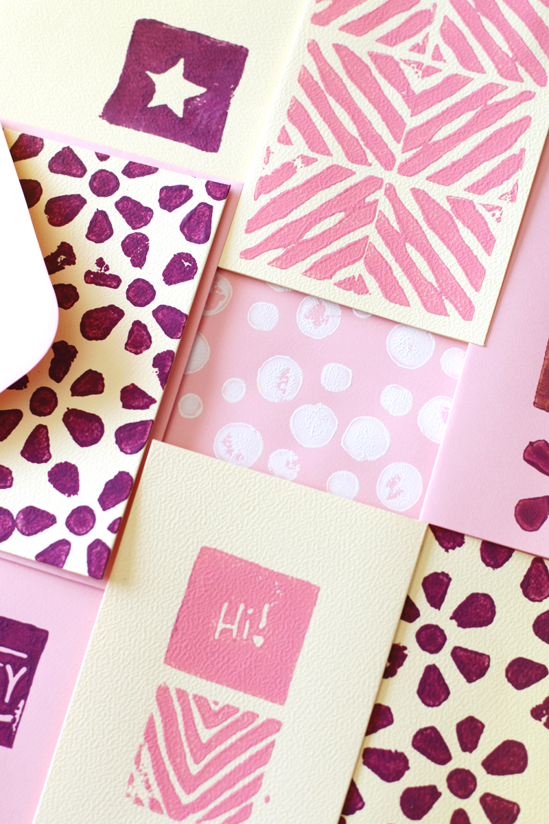Make these stamp cubes to add custom flair to notecards while saving space in your stamp storage- click through for instructions!