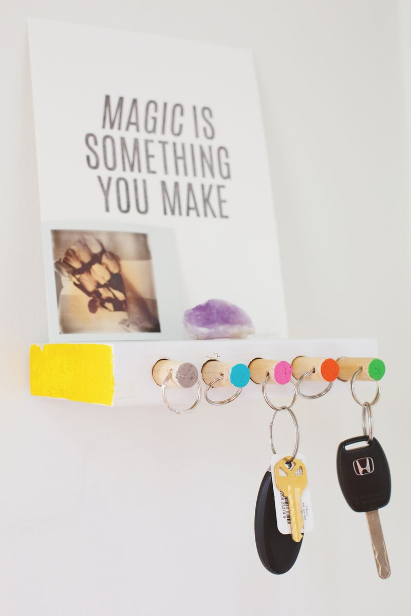 Make this key organizer (click through for instructions)