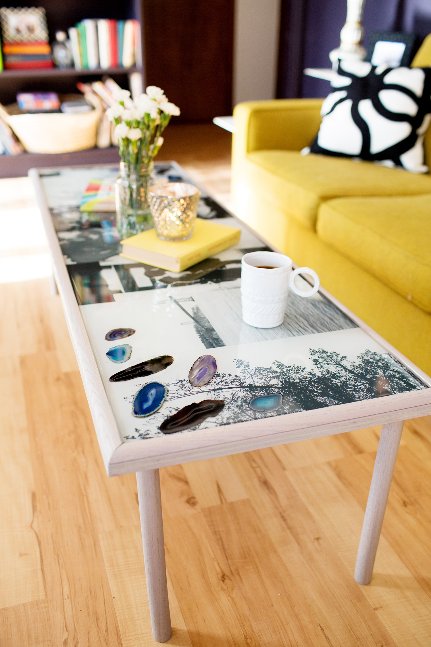 DIY Epoxy Resin Coffee Table - A Beautiful Mess