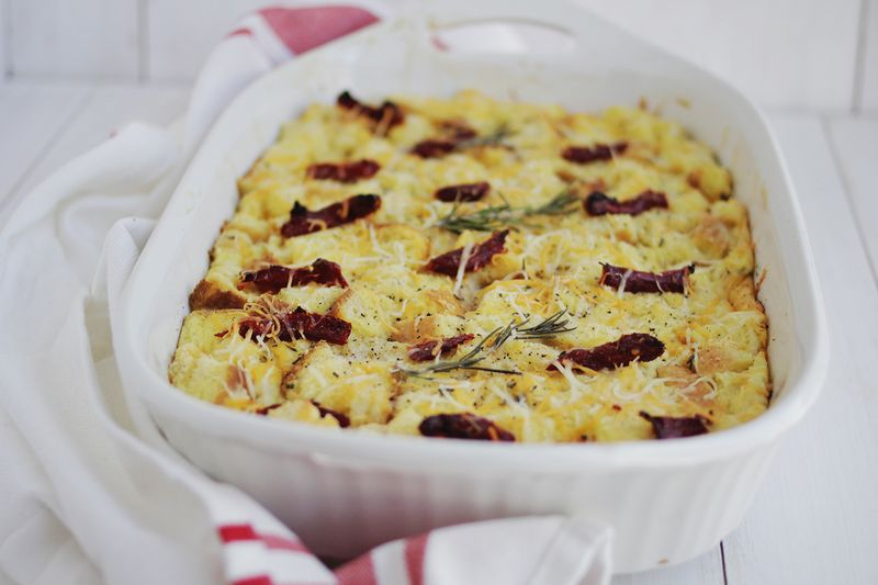 Savory french toast casserole (click through for recipe)