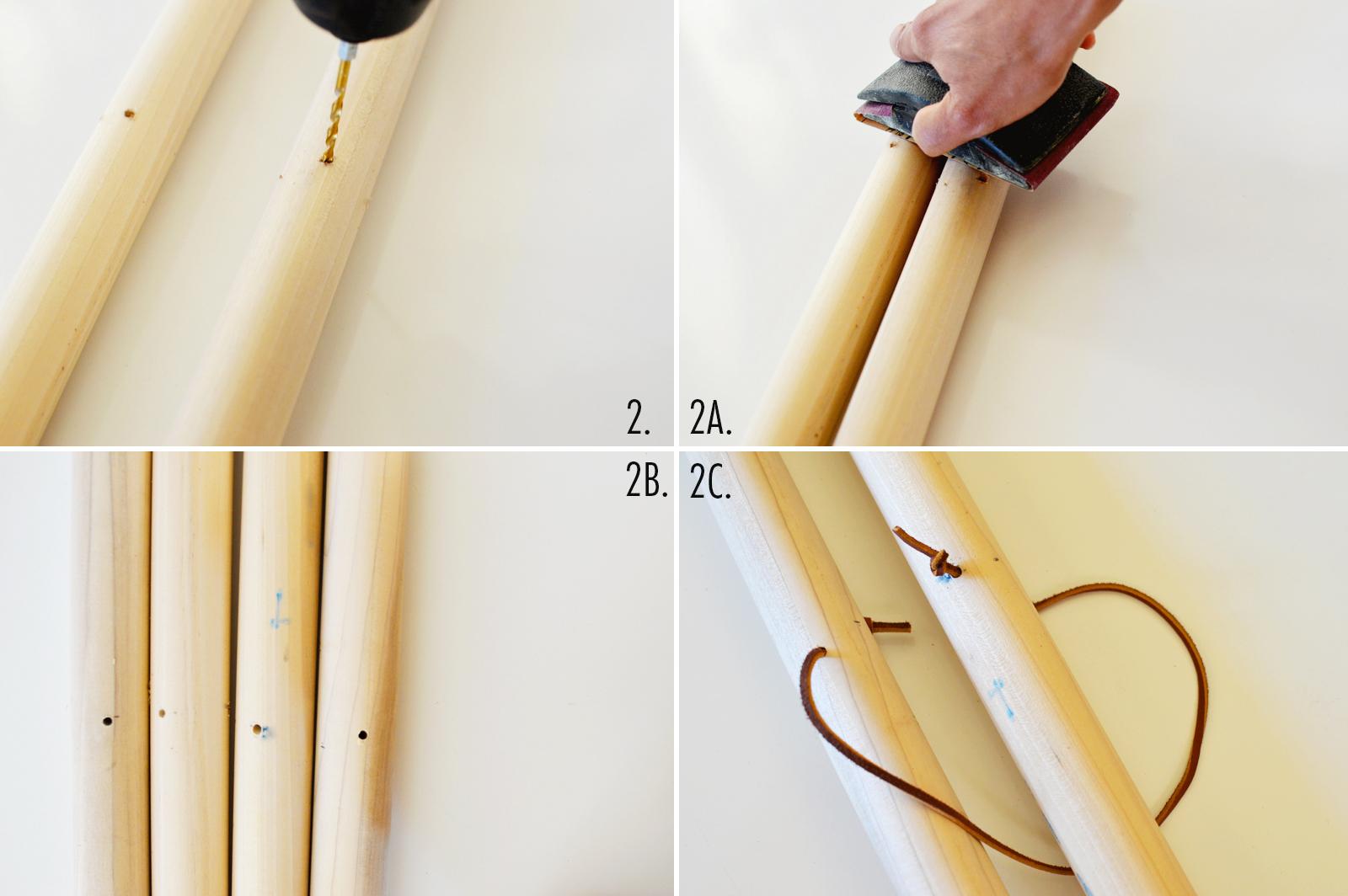 DIY clothing rack step 2