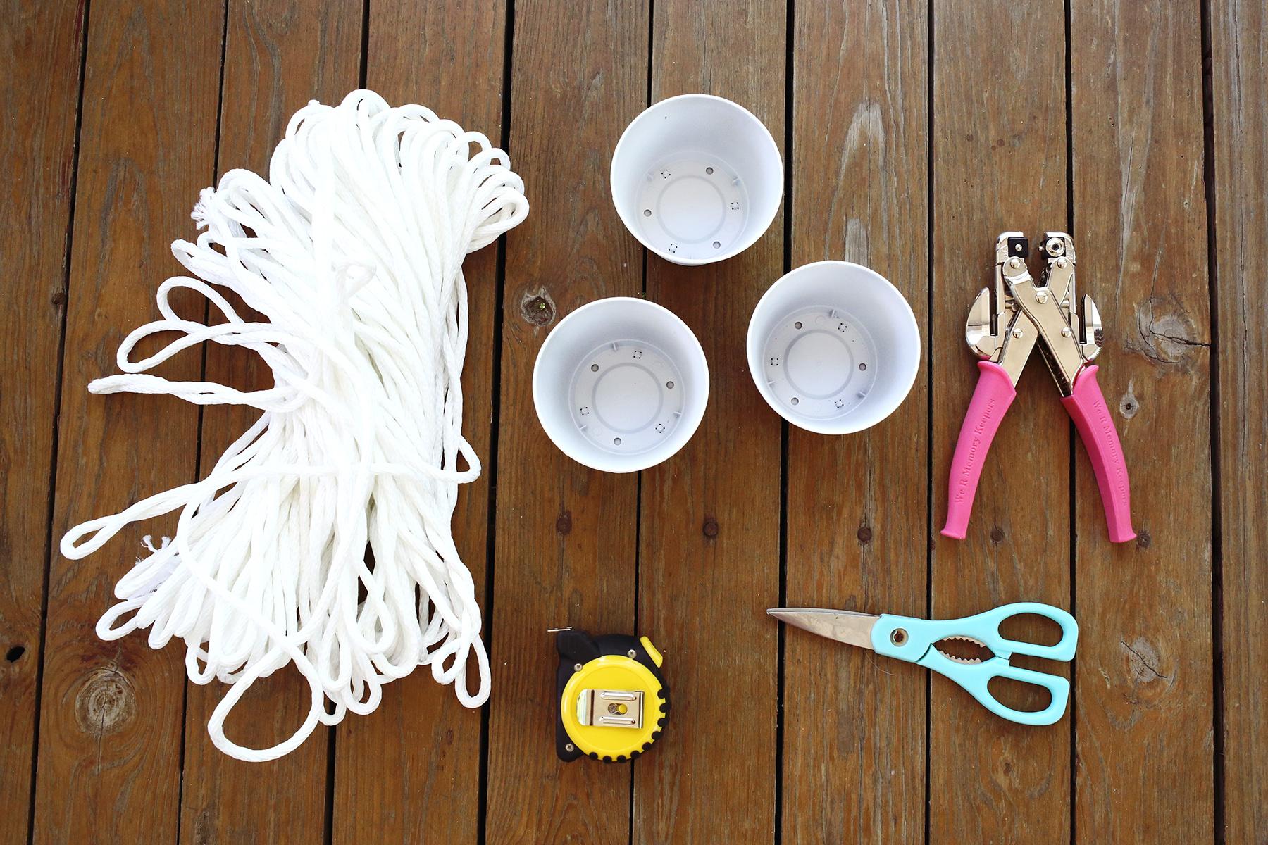 3 Tier Indoor Rope Planter :: supplies