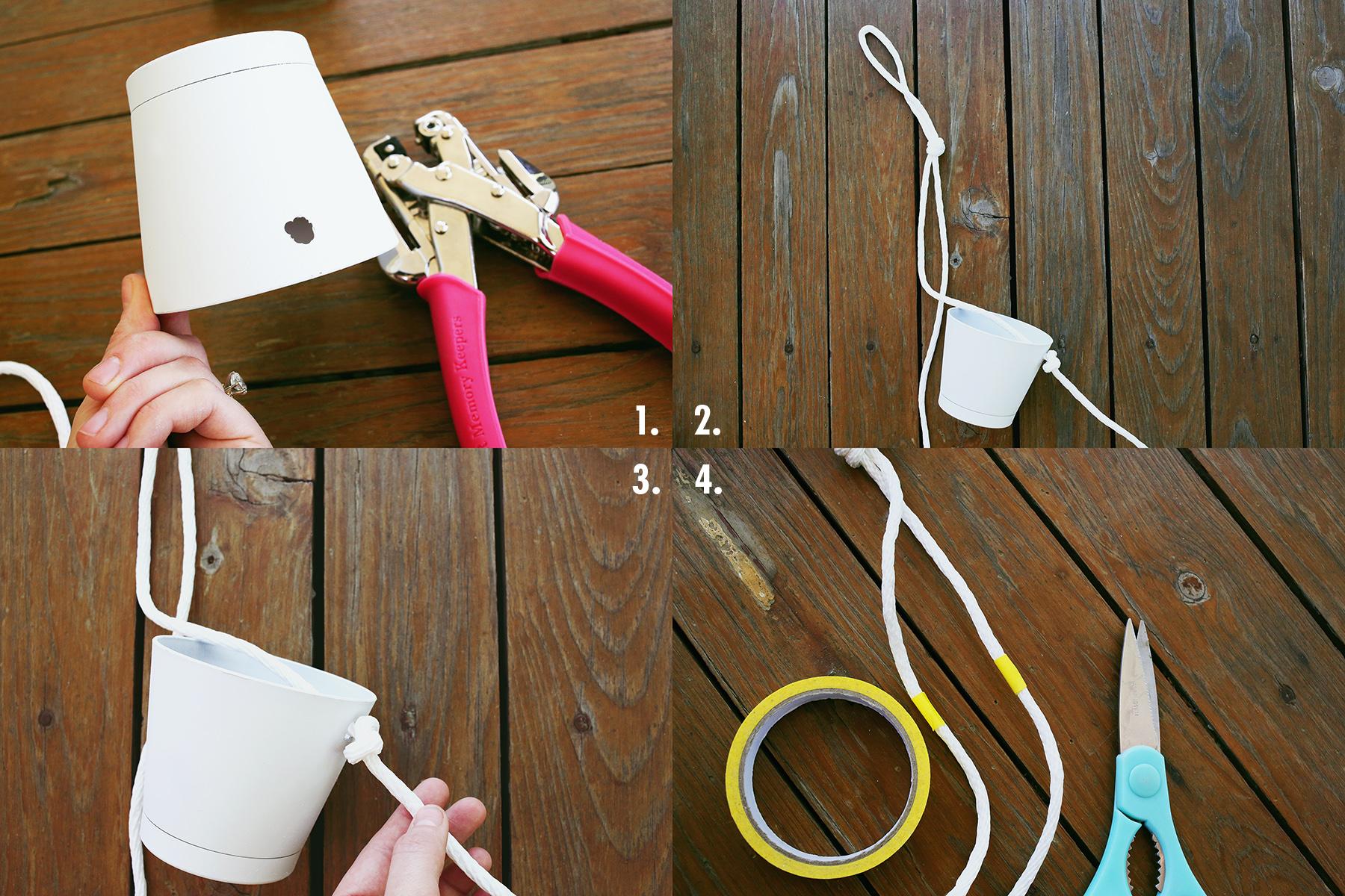 3 Tier Indoor Rope Planter :: steps