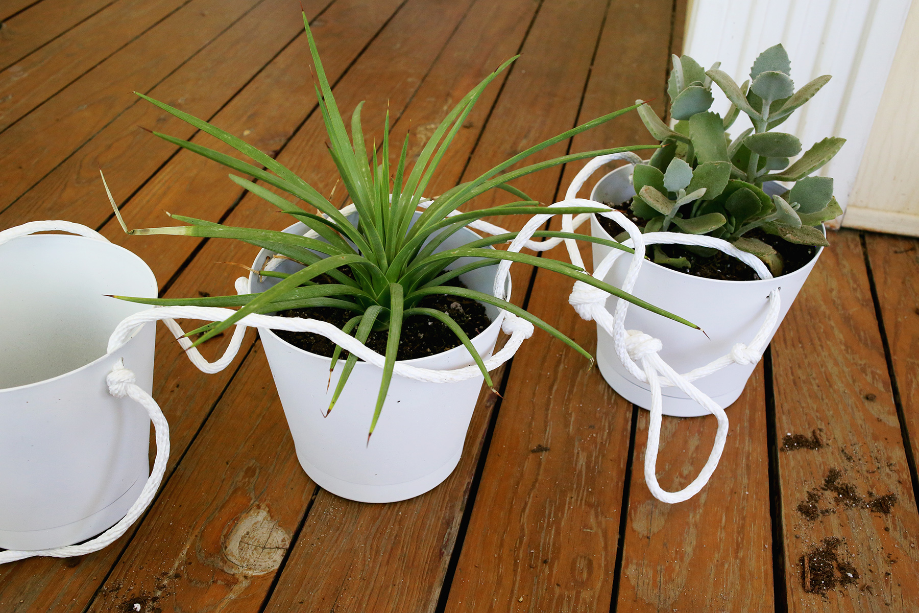 3 Tier Indoor Rope Planter :: potting