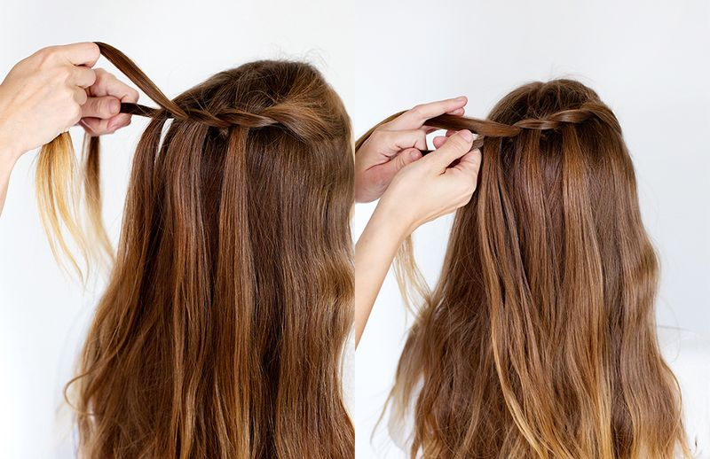 How to style a double waterfall twist a beautiful mess waterfall twist step 5 6 ccuart Image collections