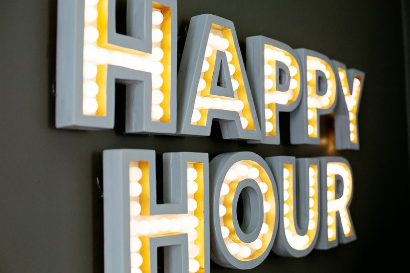 Lovely Happy Hour Marquee - A Beautiful Mess GY22