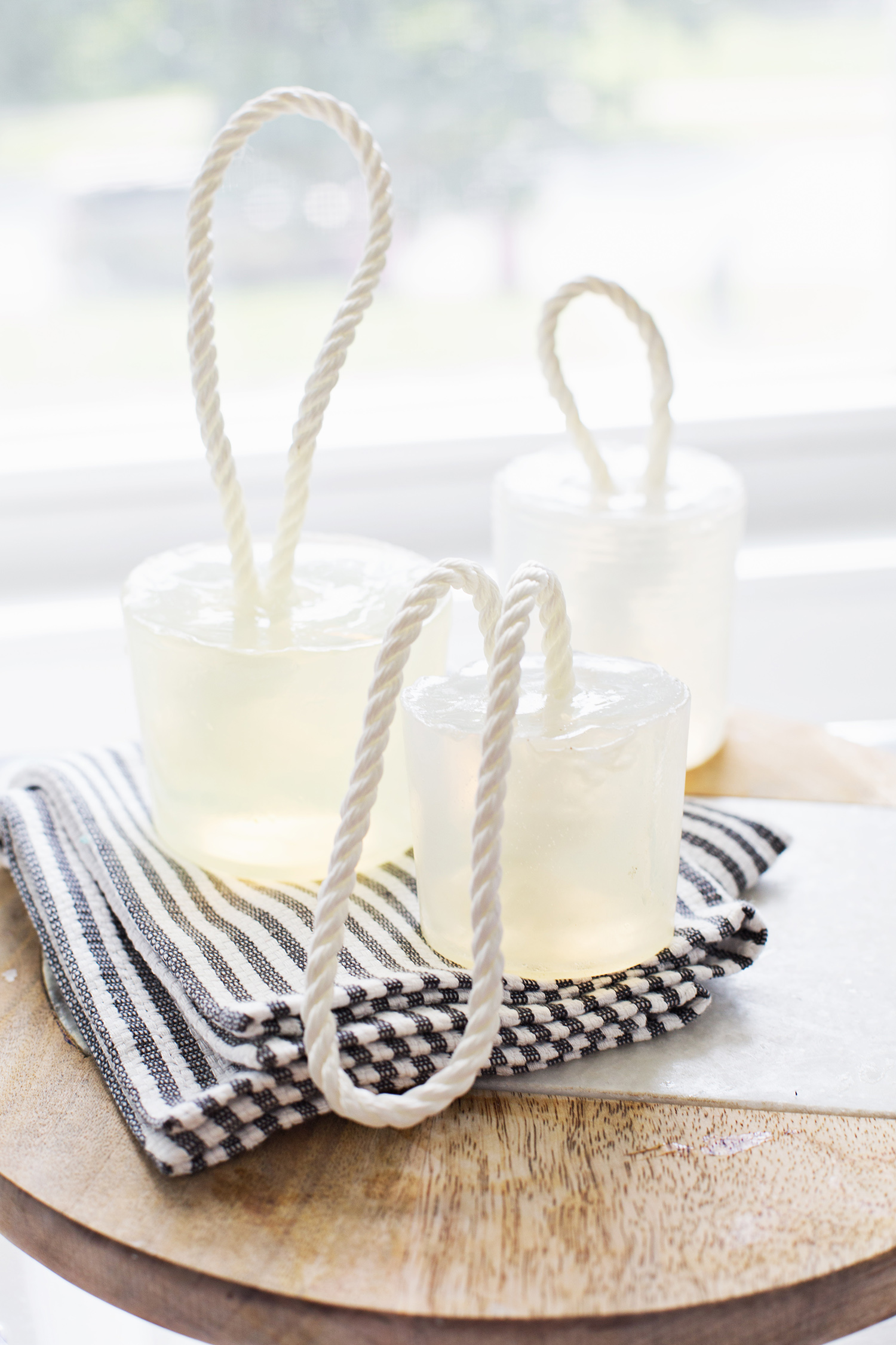 Make your own soap on a rope via A Beautiful Mess