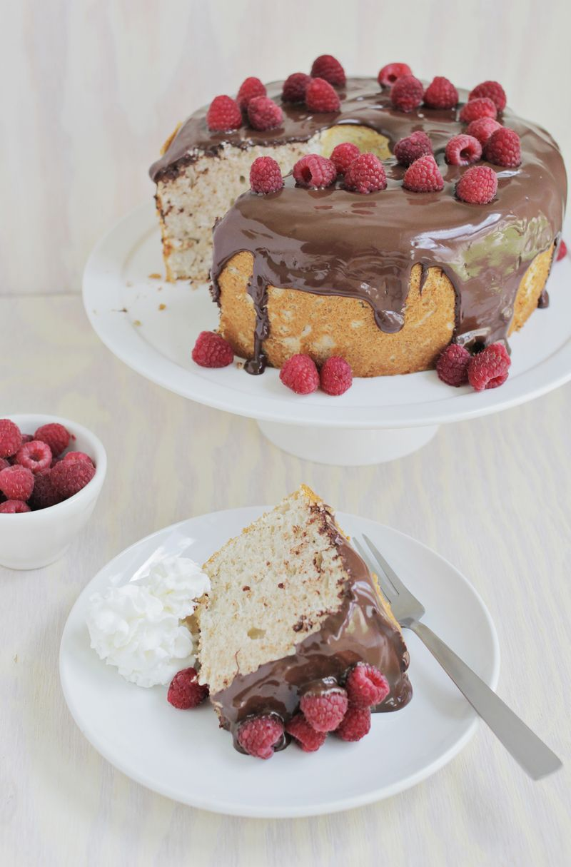 Mocha angel food cake (click through for recipe)