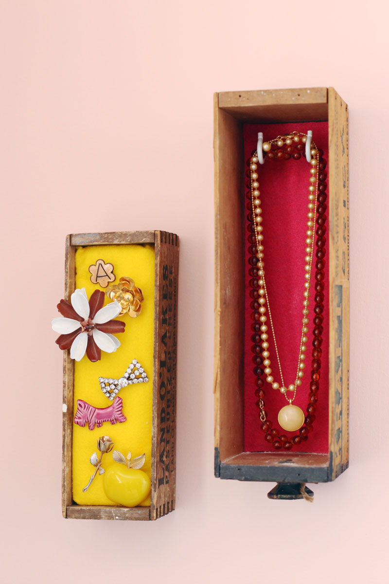 WallMounted Jewelry Box Display A Beautiful Mess