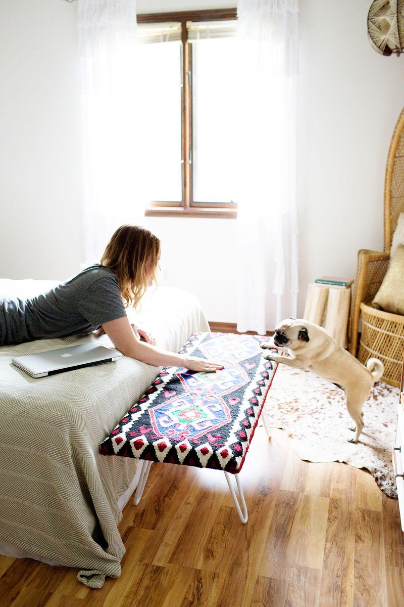 DIY Bedside Bench - A Beautiful Mess