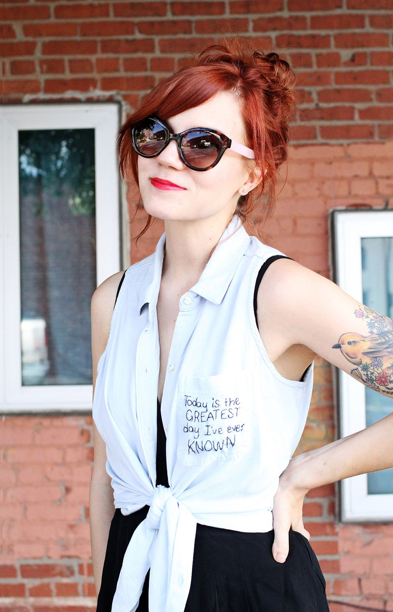 Need to do this- DIY Embroidered Shirt