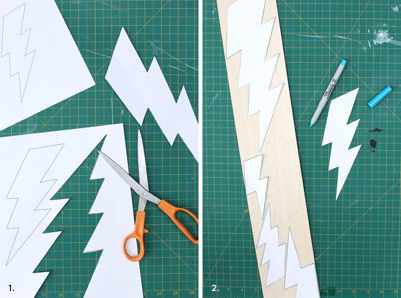 Kablam! Check out this easy DIY metallic lightning bolt mobile!