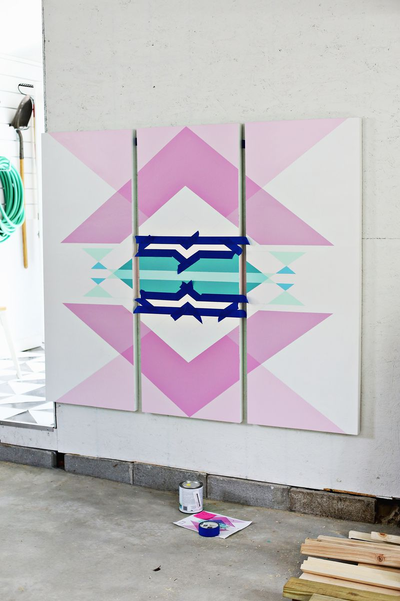 Geometric Headboard Panels