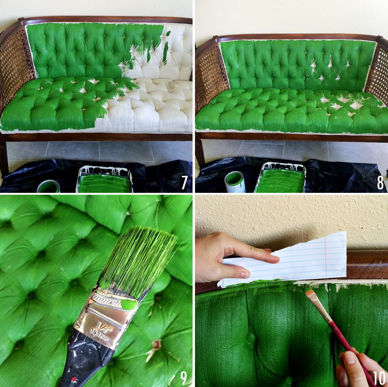 how to paint upholstery with latex paint and fabric medium. Black Bedroom Furniture Sets. Home Design Ideas